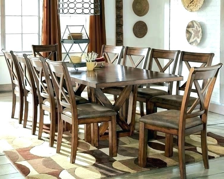 10 Seat Dining Tables And Chairs Pertaining To 2017 Round Extendable Dining Table Seats 10 – Getdotcom (View 3 of 20)