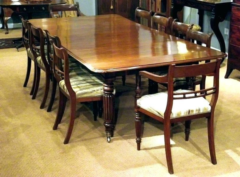 10 Seater Round Oak Dining Table 8 Extending Antique Magnificent With Regard To Popular Extending Dining Table With 10 Seats (View 1 of 20)