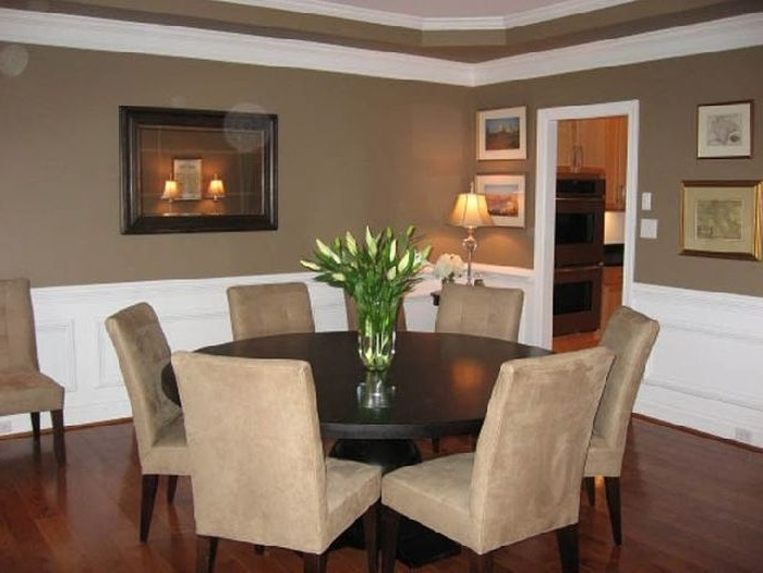 13. Dining Room Astounding Round Table For 6 With 8 Person Remodel 16 With Regard To Well Liked Round 6 Person Dining Tables (Gallery 9 of 20)