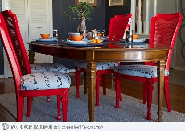 15 Dining Room Designs With A Red Touch (Gallery 3 of 20)