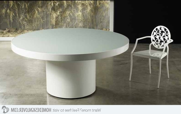 15 Lovely Circular White Dining Tables – My Decor – Home Decor Ideas In Most Recent White Circular Dining Tables (View 1 of 20)