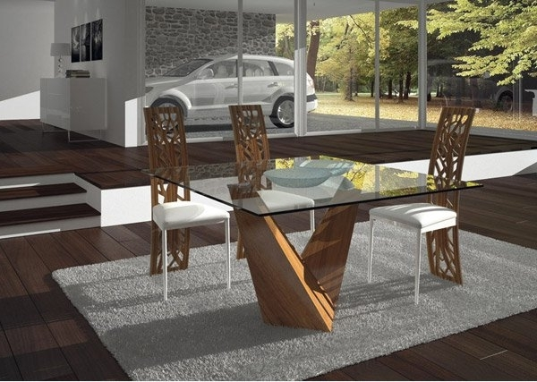 15 Shimmering Square Glass Dining Room Tables (Gallery 13 of 20)