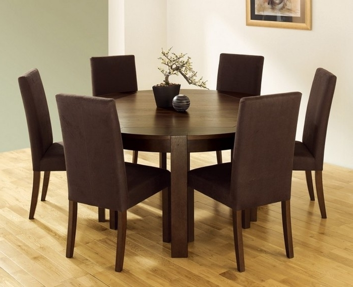 16. Perfect Round Dining Room Sets For 6 With Round Dining Table For With Regard To Latest 6 Person Round Dining Tables (Gallery 14 of 20)