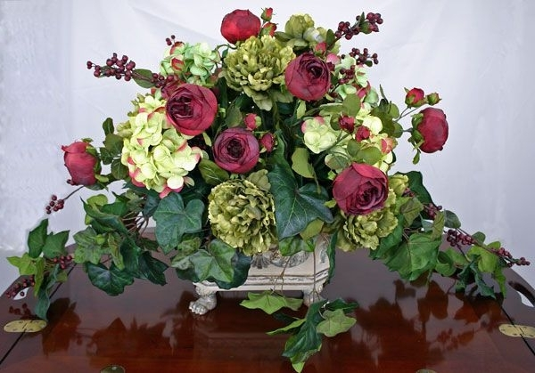 18 Excellent Silk Flower Arrangements For Dining Room Table Digital With Current Artificial Floral Arrangements For Dining Tables (View 1 of 20)