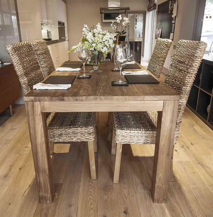 180Cm Dining Tables For Favorite Pancor' 180Cm Reclaimed Wood Dining Table And 6 Banana Leaf Chair (View 1 of 20)