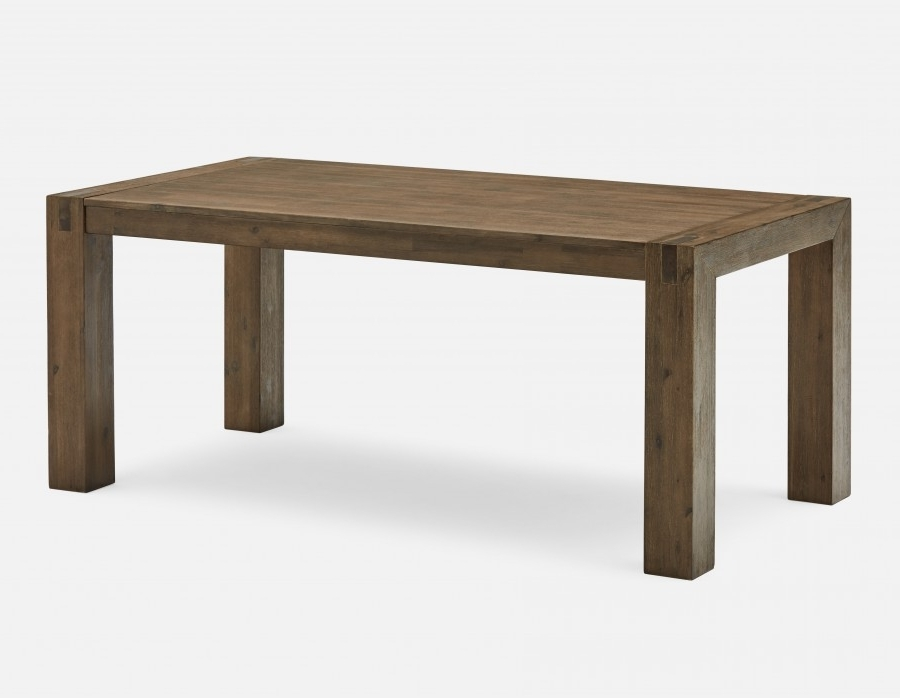 180Cm Dining Tables Pertaining To Well Known Hamburg Acacia Wood Dining Table 180Cm (71'') (View 5 of 20)