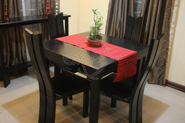 2017 4 Seat Dining Tables Inside 4 Seater Dining Table Set W Chairs : Leoque Collection – One Look (View 1 of 20)