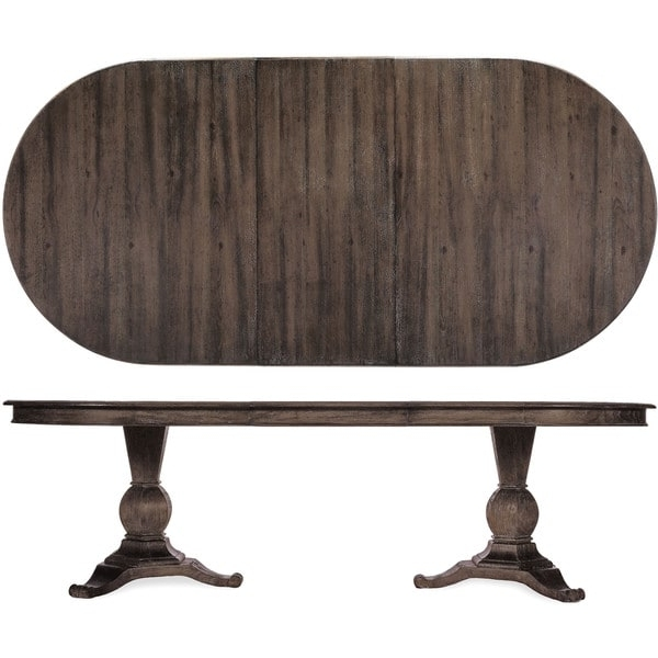2017 A R T Furniture St Germain Double Pedestal Dining Table Coffee Throughout Magnolia Home Double Pedestal Dining Tables (View 1 of 20)