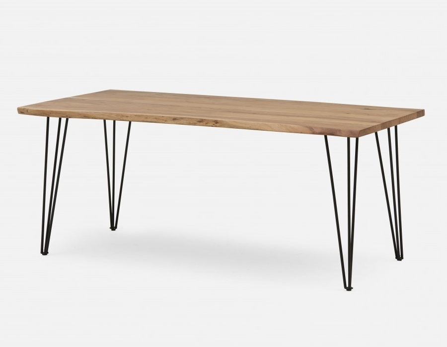 2017 Acacia Dining Tables Intended For Reno Solid Acacia Wood Dining Table 71'' (View 1 of 20)