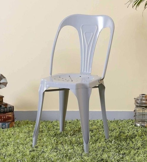 2017 Amos Extension Dining Tables Pertaining To Buy Amos Metal Chair In Steel Grey Colorbohemiana Online – Metal (View 1 of 20)