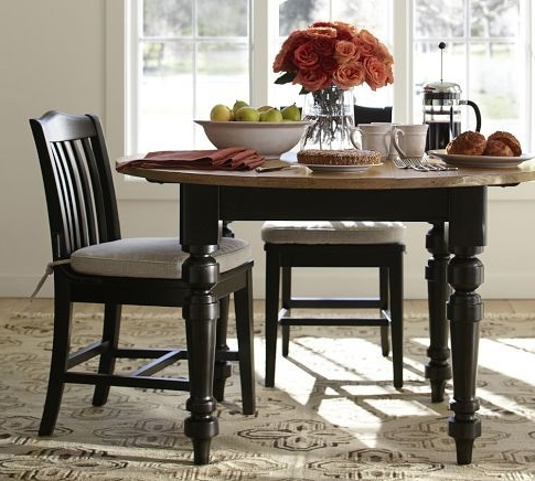 2017 Artisanal Dining Tables Inside I Love This Two Toned Dinning Table –Keaton Round Fixed Dining (View 1 of 20)
