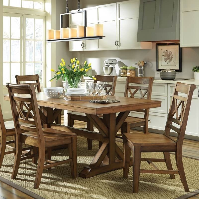 2017 Canyon Dining Table And Double X Back Chair Set Free Shipping Within Toscana Dining Tables (View 1 of 20)