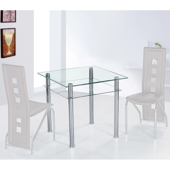 2017 Como Clear Glass Dining Table Only 7115 Furniture In With Regard To Como Dining Tables (View 7 of 20)