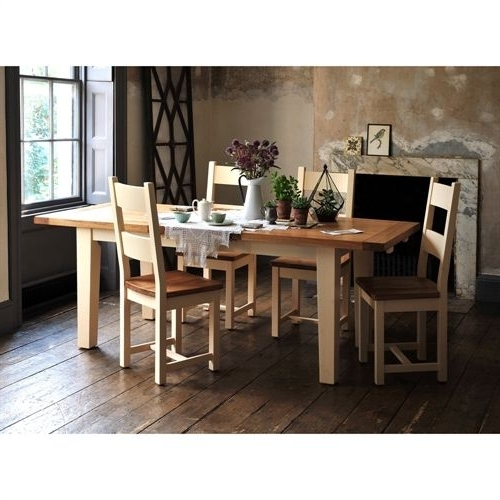 2017 Cotswold Dining Tables In Cheltenham Cream 180Cm 230Cm Ext (View 1 of 20)