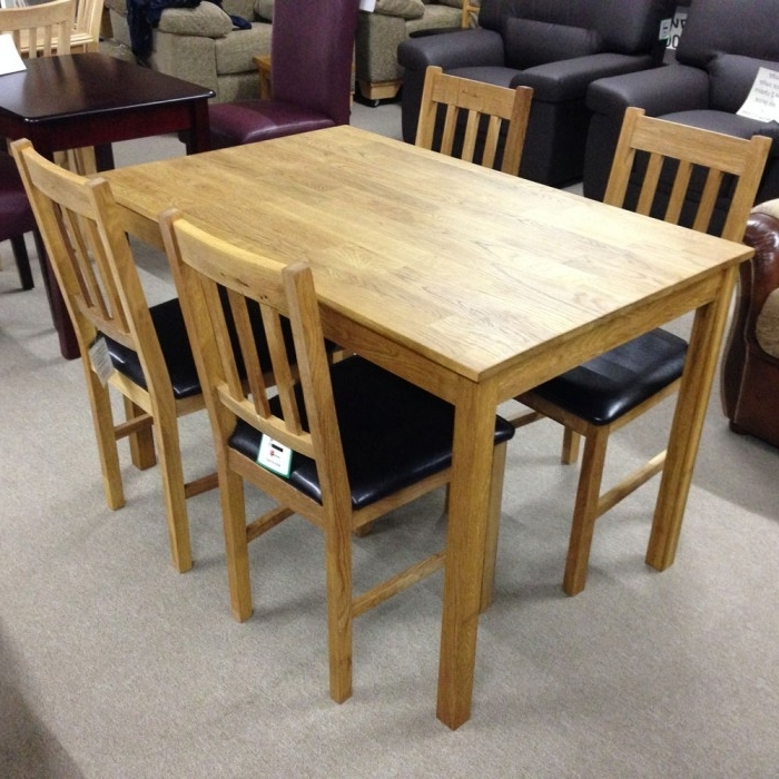 2017 Coxmoor Solid Oak Dining Table With 4 Chairs – Flintshire, Chester For Oak Dining Tables And 4 Chairs (View 1 of 20)