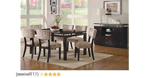 2017 Craftsman 7 Piece Rectangle Extension Dining Sets With Side Chairs Within Amazon – Coaster Furniture Libby Collection Cappuccino 7 Piece (Gallery 11 of 20)