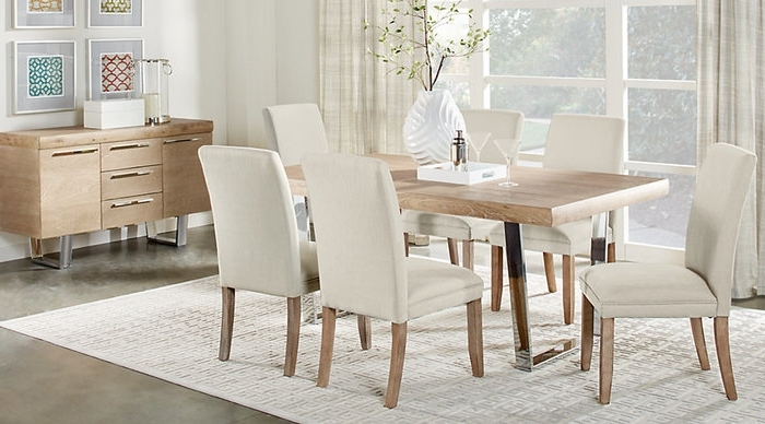 2017 Crawford 6 Piece Rectangle Dining Sets Pertaining To 2. Cindy Crawford Home San Francisco Ash 5 Pc Dining Room Dining (Gallery 12 of 20)