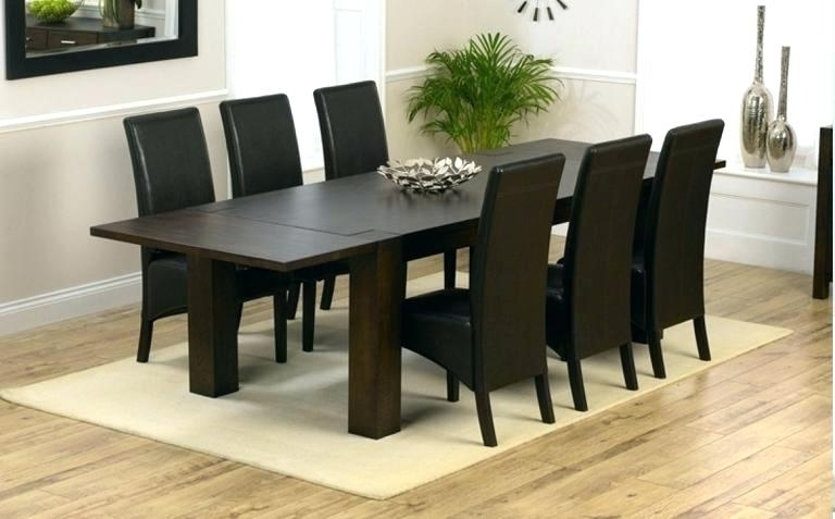 2017 Dark Wooden Dining Tables With Dark Wood Dining Table 6 Sets Solid Brown Kitchen Home Architecture (View 2 of 20)