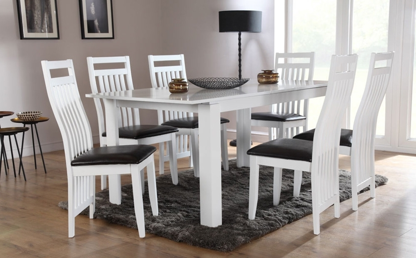 2017 Dining Room: Awesome White Dining Room Table White Dining Room Sets With Regard To White Dining Tables And Chairs (Gallery 16 of 20)