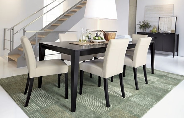 2017 Dining Room Design: Dark Wooden Expandable Dining Table, Dining Inside Dark Dining Tables (View 1 of 20)