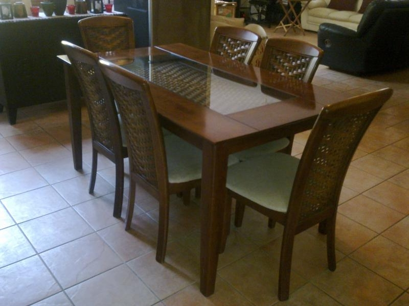 2017 Dining Room Designs: Manila Cheap Dining Room Set 6 Chairs, Adjust Inside Cheap Dining Sets (View 2 of 20)