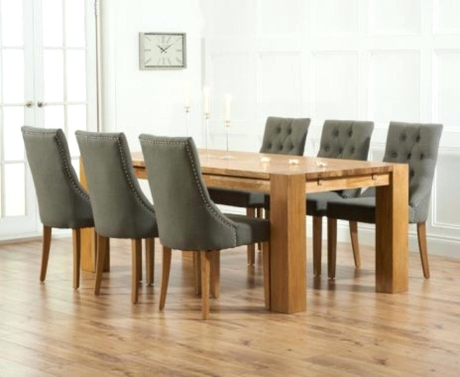 2017 Dining Tables And Fabric Chairs In Extraordinary Dining Set With Fabric Chairs Oxford 120Cm Solid Oak (View 1 of 20)