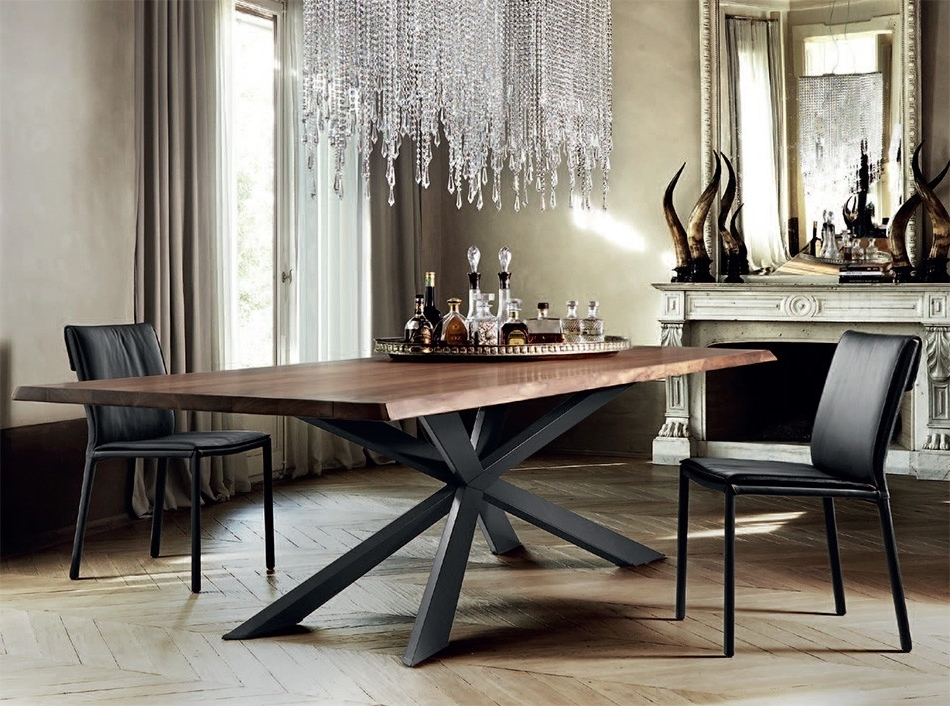 2017 Dining Tables With Metal Legs Wood Top Pertaining To Spyder Wood Dining Tablecattelan Italia – Dining Tables – Dining (View 1 of 20)