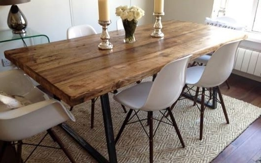 2017 Ebay Dining Suites For Industrial Dining Table Set – Castrophotos (Gallery 4 of 20)
