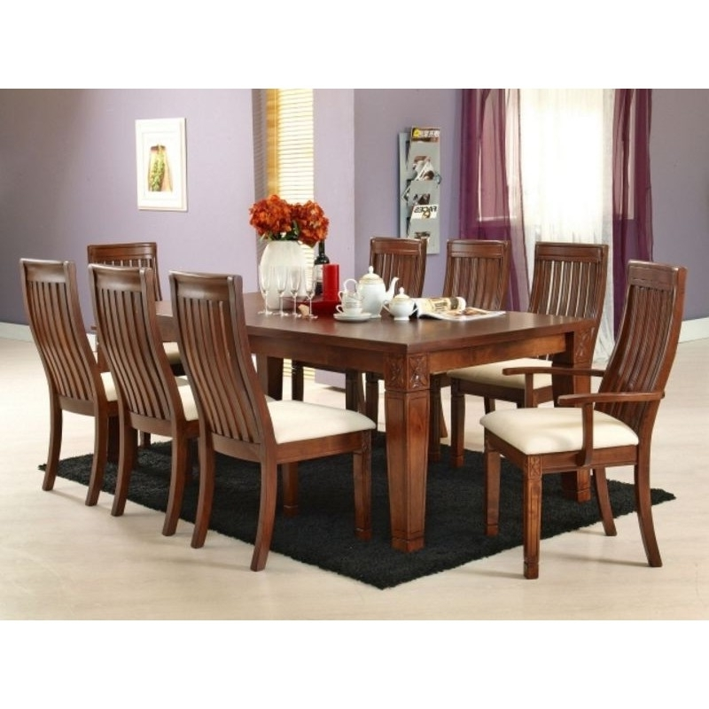 2017 Eight Seater Dining Tables And Chairs With Lavender 8 Seater Dining Table (View 4 of 20)