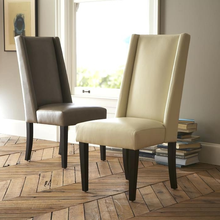 2017 Excellent Ivory Dining Chairs Excellent Leather Dining Chair West With Ivory Leather Dining Chairs (Gallery 16 of 20)