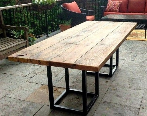 2017 Garden Dining Tables Throughout Good Concept. Simple Construction (View 18 of 20)