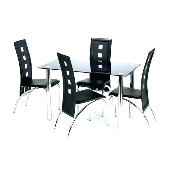 2017 Glass Dining Table Chairs – Bcrr In Black Glass Dining Tables And 4 Chairs (View 13 of 20)