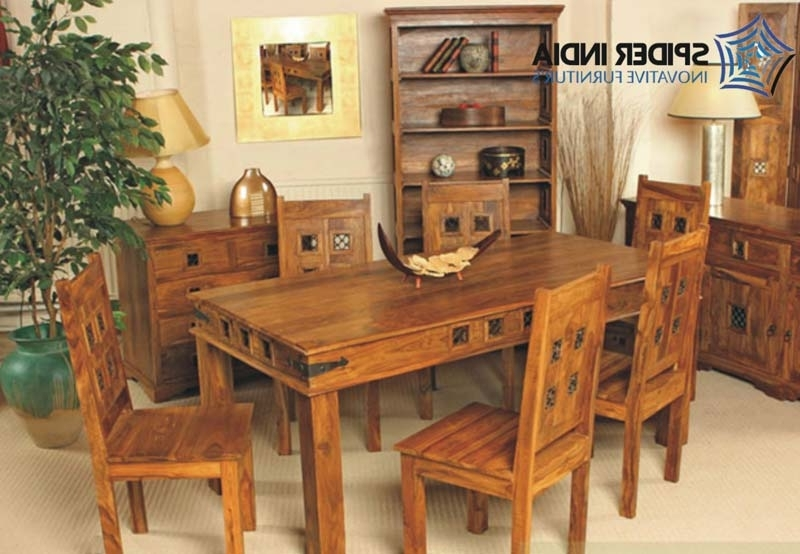 2017 Indian Dining Tables And Chairs In Wooden Dining Table Set Manufacturer In Jodhpur Rajasthan India (Gallery 17 of 20)