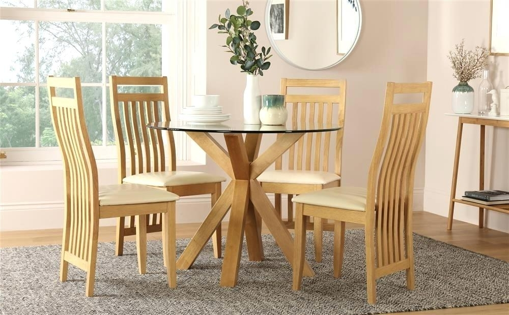 2017 Ivory Painted Dining Tables Regarding Ivory Painted Oak Dining Table And Round Z Solid Designer 4 Kitchen (View 16 of 20)