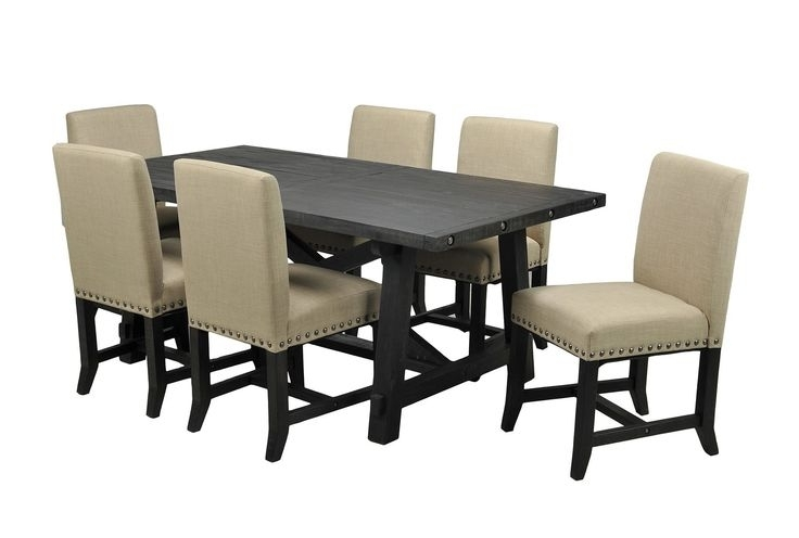 2017 Jaxon 7 Piece Rectangle Dining Sets With Upholstered Chairs Regarding 9 Best Dining Room Images On Pinterest (View 2 of 20)