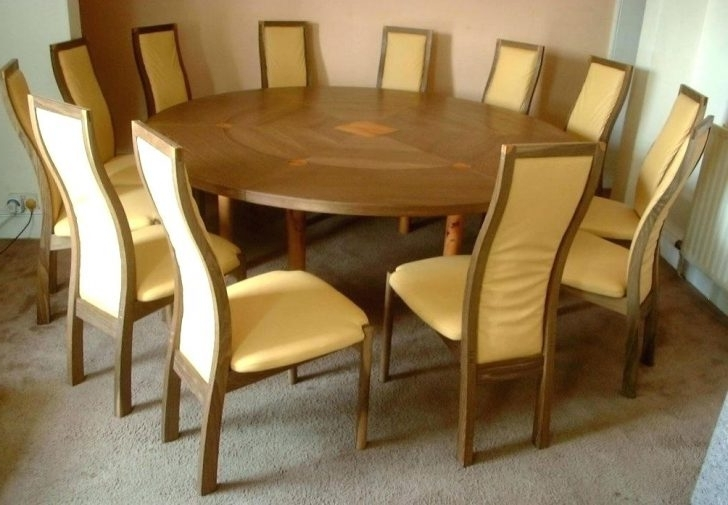 2017 Large Circular Dining Tables Inside Beautiful Circular Dining Table For 8 Seats Seater Size Decoration (View 1 of 20)