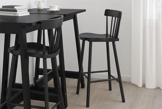 2017 Laurent 5 Piece Round Dining Sets With Wood Chairs Inside Bar Tables & Bar Stools – Ikea (Gallery 3 of 20)