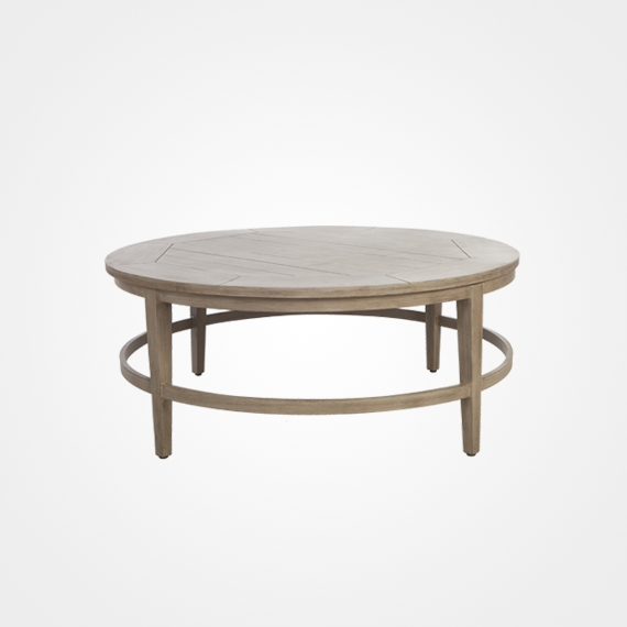 2017 Laurent/portofino Round Dining Table – Outdoor Furniture – Ellenburgs Regarding Laurent Round Dining Tables (View 1 of 20)