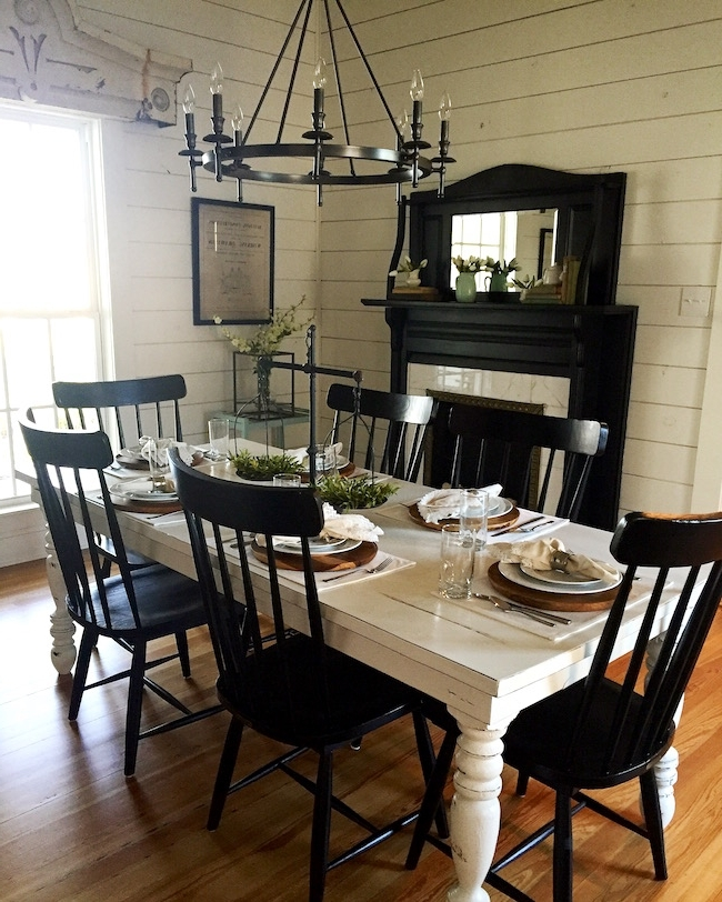 2017 Magnolia Home Breakfast Round Black Dining Tables Within The Magnolia House (View 1 of 20)