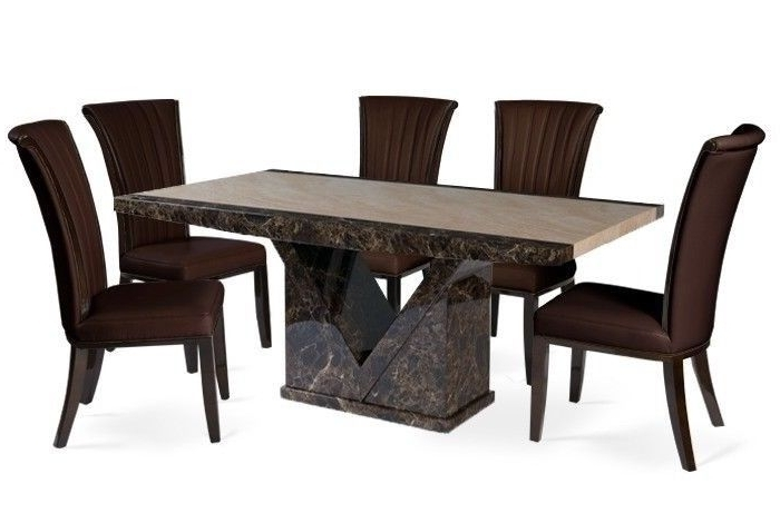 2017 Marble Effect Dining Tables And Chairs With Brand New – Marble Effect Dining Table With 8 Alpine Chairs (Gallery 14 of 20)