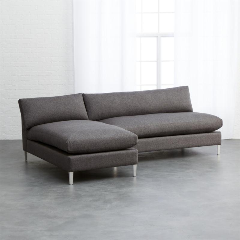2017 Modern Armless Sofas (View 1 of 15)