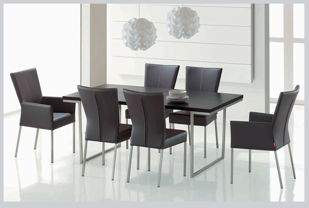 2017 Modern Dining Room Furniture Dands Glass Dining Sets 6 Chairs Throughout Contemporary Dining Room Chairs (View 12 of 20)