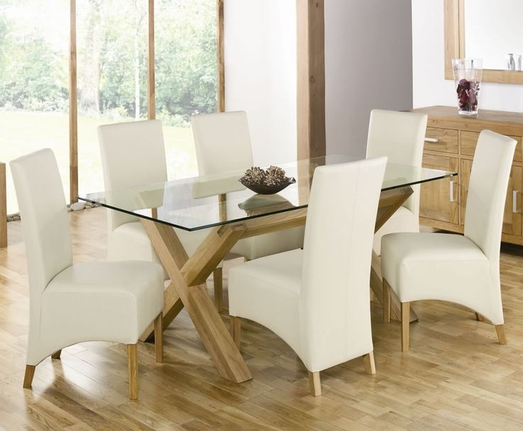 2017 Oak And Glass Dining Tables Sets Within 110 Best Cheap Furniture Images On Pinterest (View 7 of 20)