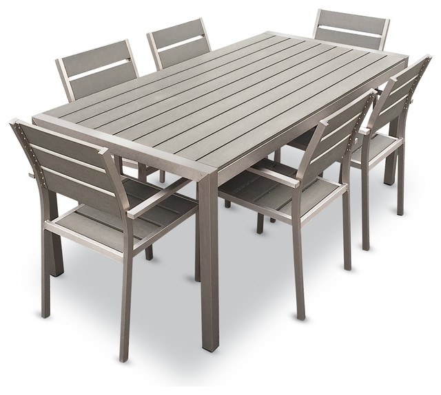 Featured Photo of Outdoor Dining Table And Chairs Sets