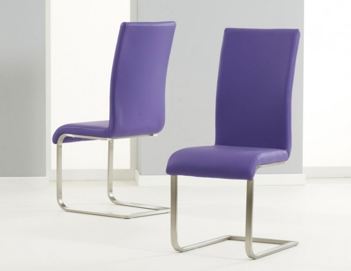 2017 Purple Faux Leather Dining Chairs Within Monterey Purple Faux Leather Dining Chairs (Gallery 2 of 20)