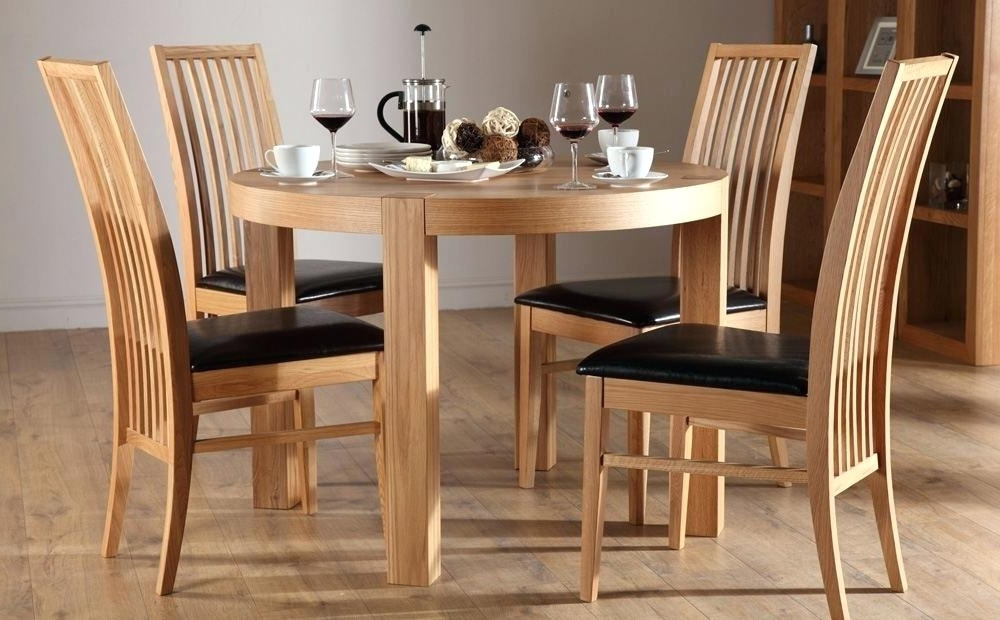 2017 Round Oak Dining Tables And 4 Chairs Intended For Small Dining Room Tables White Round Table And 4 Chairs Cheap (Gallery 14 of 20)