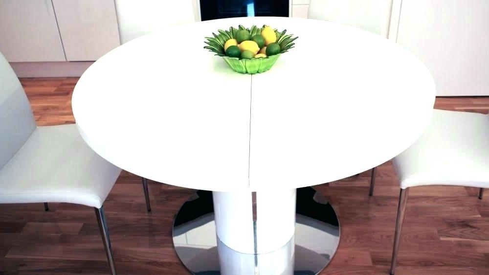 2017 Round White Extendable Dining Tables In Round Extending Dining Table Extending Dining Table 4 Chairs Cream (View 13 of 20)