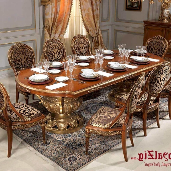 2017 Royal Dining Tables Regarding Royal Dining Table Cream Colour (View 19 of 20)
