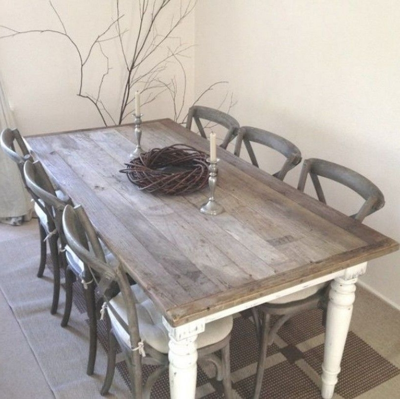 2017 Shabby Chic Dining Table Chairs And Bench Home Design Fireplace For Shabby Chic Dining Sets (Gallery 1 of 20)