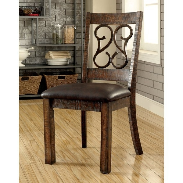 2017 Shop Furniture Of America Chester Traditional Scrolled Metal Throughout Chester Dining Chairs (View 3 of 20)